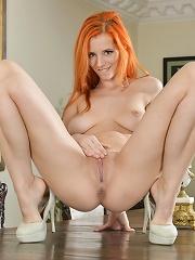Ariel enjoys masturbating on top of the table