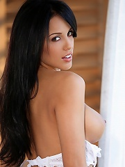 Melissa Riso is a brunette knockout who decided to give nude modeling a try